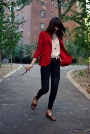 40 Womens red blazer jackets ideas 26