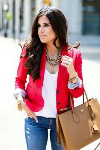 40 Womens red blazer jackets ideas 27