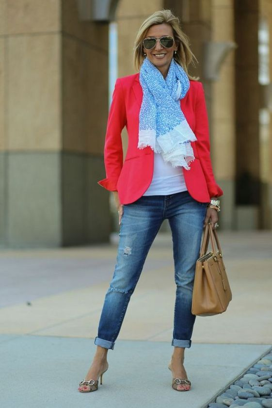 40 Womens red blazer jackets ideas 33