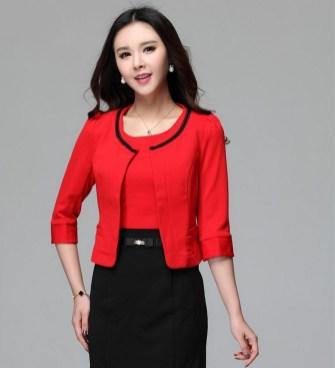 40 Womens red blazer jackets ideas 40