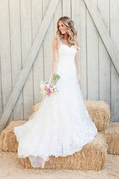 40 wedding dresses country theme ideas 13