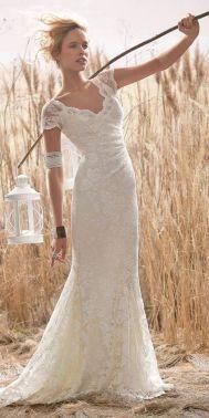 40 wedding dresses country theme ideas 17