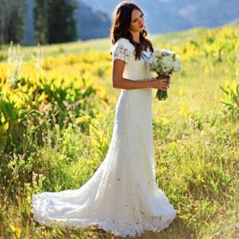 40 wedding dresses country theme ideas 19