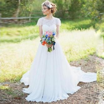 40 wedding dresses country theme ideas 26
