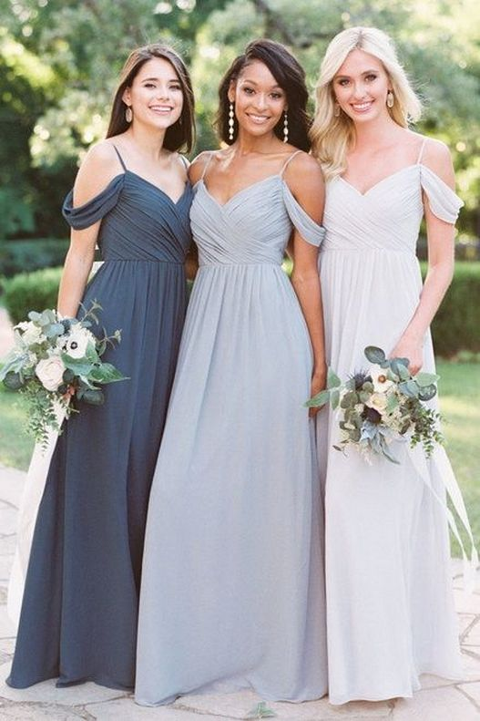50 Amazing bridesmaid dresses for a country wedding 54