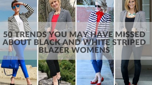 50 Trends You May Have Missed About black and white striped blazer womens