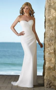 50 simple and sexy wedding dresses for the beach 1