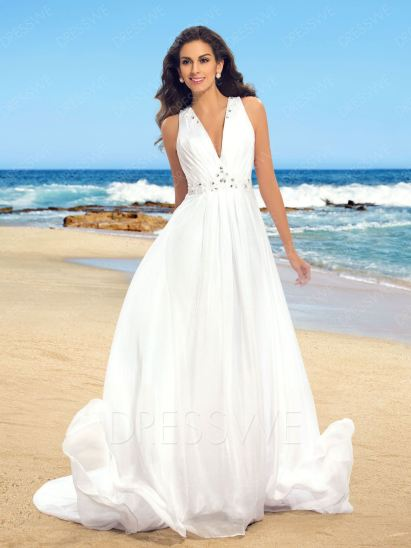 50 simple and sexy wedding dresses for the beach 5