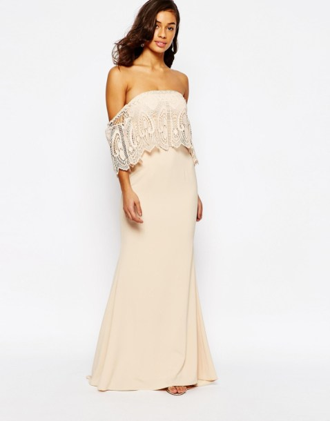 Classy evening shoulder lace dress for all special events 19
