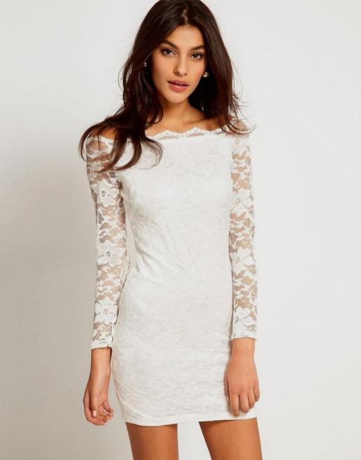 Classy evening shoulder lace dress for all special events 22