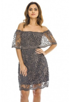 Classy evening shoulder lace dress for all special events 25