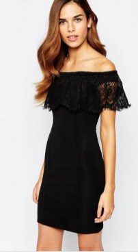 Classy evening shoulder lace dress for all special events 3