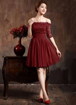 Classy evening shoulder lace dress for all special events 30