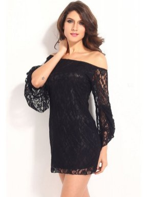 Classy evening shoulder lace dress for all special events 34