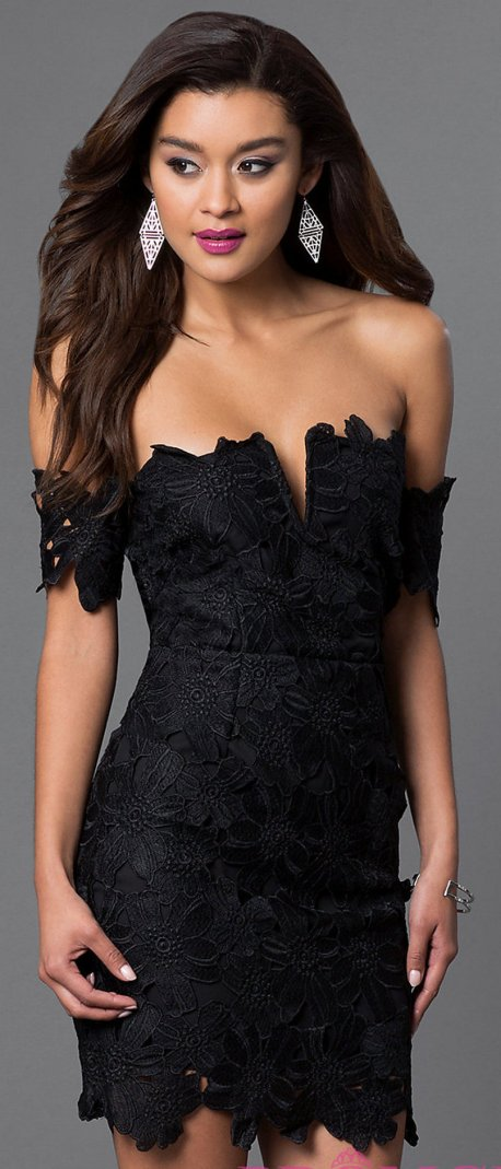Classy evening shoulder lace dress for all special events 38