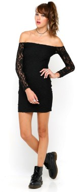 Classy evening shoulder lace dress for all special events 54