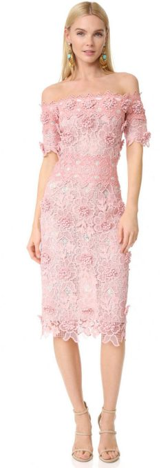 Classy evening shoulder lace dress for all special events 56