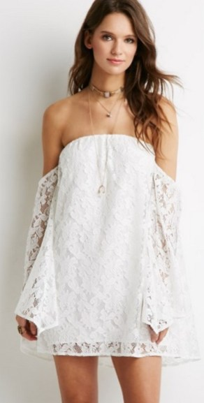 Classy evening shoulder lace dress for all special events 9