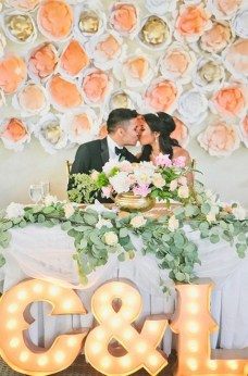 Creative And Fun Wedding day Reception Backdrops You Like Ideas 15