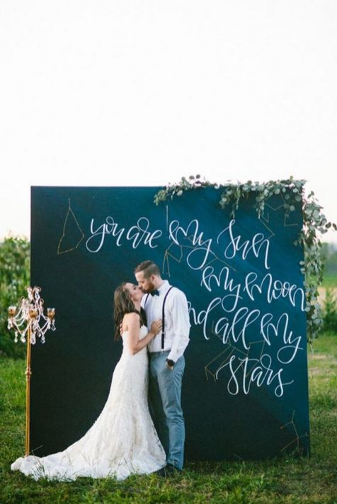 Creative And Fun Wedding day Reception Backdrops You Like Ideas 46