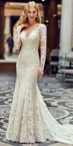 Embellished Wedding Gowns Ideas 19