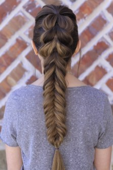 Fishtail Hairstyles for all situations 13