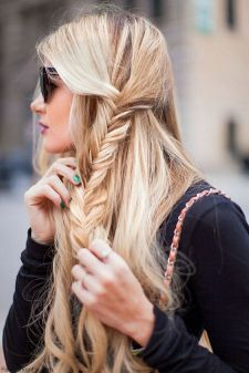 Fishtail Hairstyles for all situations 25
