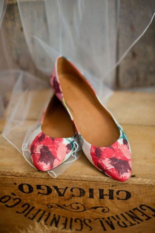 Floral Wedding Shoes Ideas You Never Seen Before 4