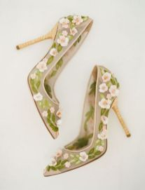 Floral Wedding Shoes Ideas You Never Seen Before 8