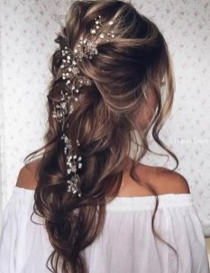 Hairstyles for long hair at wedding Ideas 16