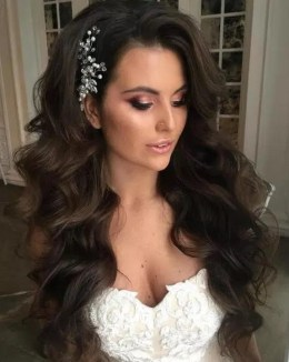 Hairstyles for long hair at wedding Ideas 18