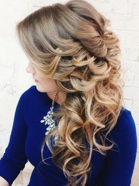 Hairstyles for long hair at wedding Ideas 22