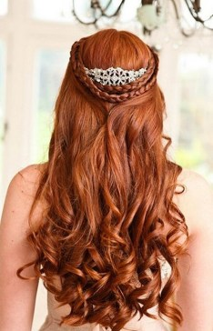 Hairstyles for long hair at wedding Ideas 29
