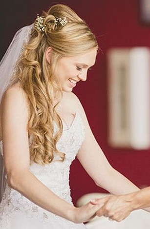 Hairstyles for long hair at wedding Ideas 45