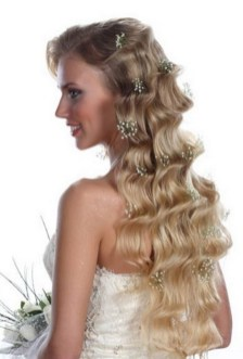 Hairstyles for long hair at wedding Ideas 6
