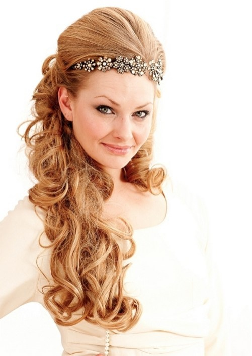 Hairstyles for long hair at wedding Ideas 65