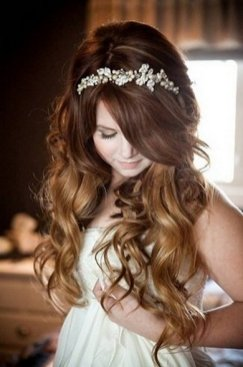 Hairstyles for long hair at wedding Ideas 66