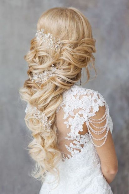 Hairstyles for long hair at wedding Ideas 67