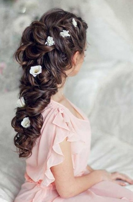 Hairstyles for long hair at wedding Ideas 7