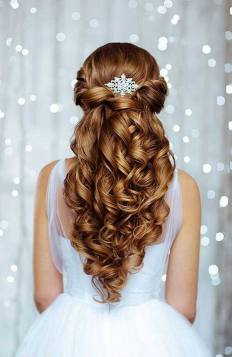 Hairstyles for long hair at wedding Ideas 73