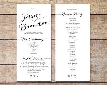Simple Wedding Reception Program Sample Ideas 14