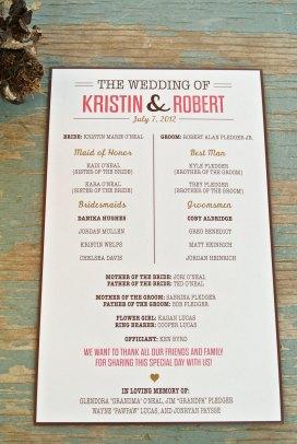 Simple Wedding Reception Program Sample Ideas 16