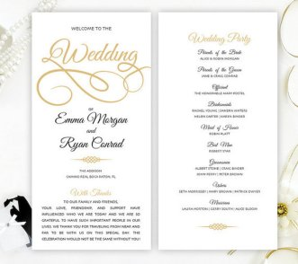 Simple Wedding Reception Program Sample Ideas 18