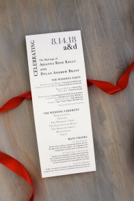 Simple Wedding Reception Program Sample Ideas 19