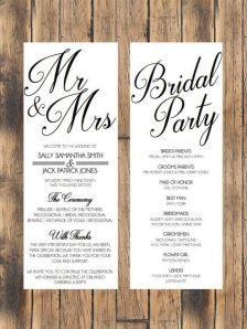 Simple Wedding Reception Program Sample Ideas 29