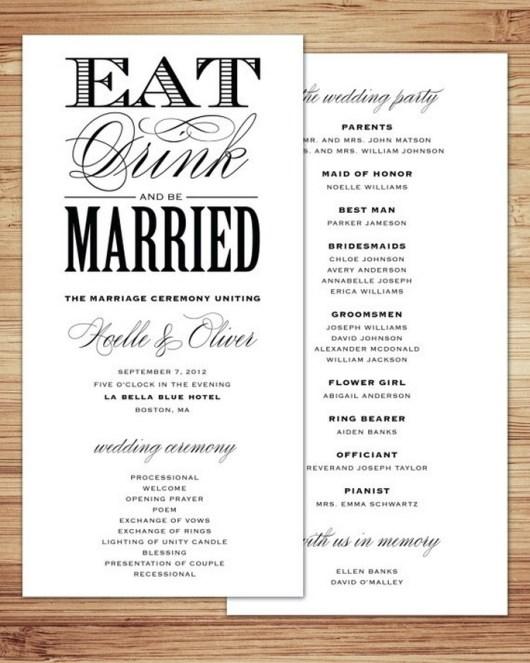 Simple Wedding Reception Program Sample Ideas 30