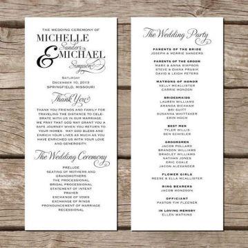 Simple Wedding Reception Program Sample Ideas 32