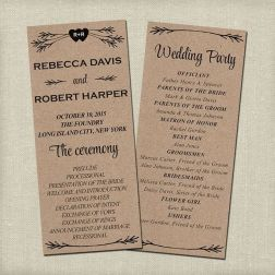 Simple Wedding Reception Program Sample Ideas 34