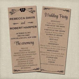 Simple Wedding Reception Program Sample Ideas 34