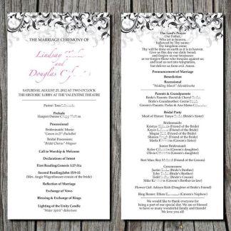 Simple Wedding Reception Program Sample Ideas 35